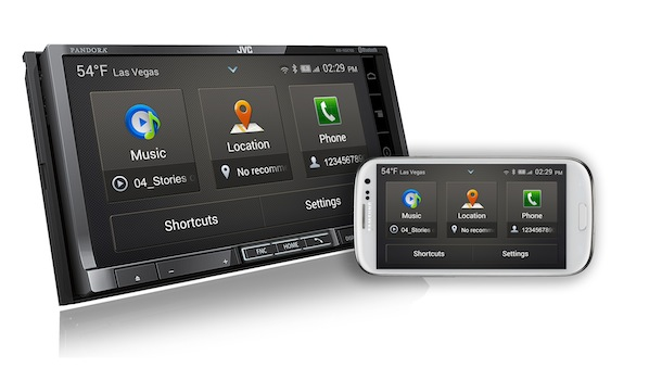 JVC KW-NSX700 with smartphone