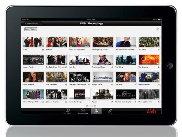 DISH Hopper Transfers App for IPad