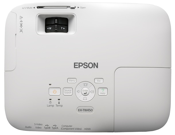 Epson Home Cinema 705HD Projector - top