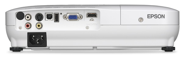 Epson Home Cinema 705HD Projector - back