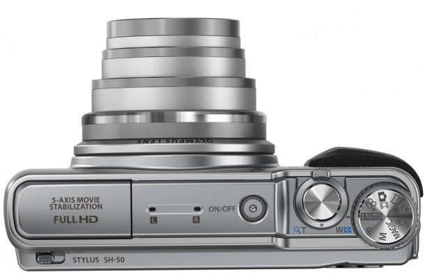 Olympus STYLUS SH-50 iHS Digital Camera - top