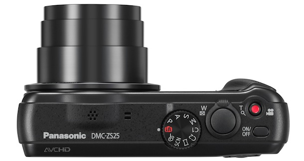 Panasonic LUMIX DMC-ZS25 - top