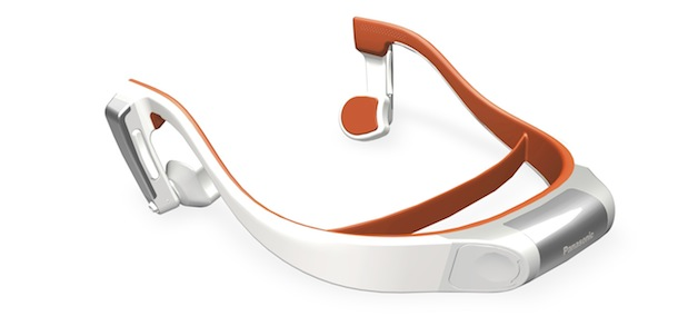Panasonic RP-BTGS10 Bone Conduction Headphone - white orange