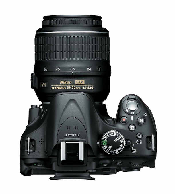 Nikon D5200 - top