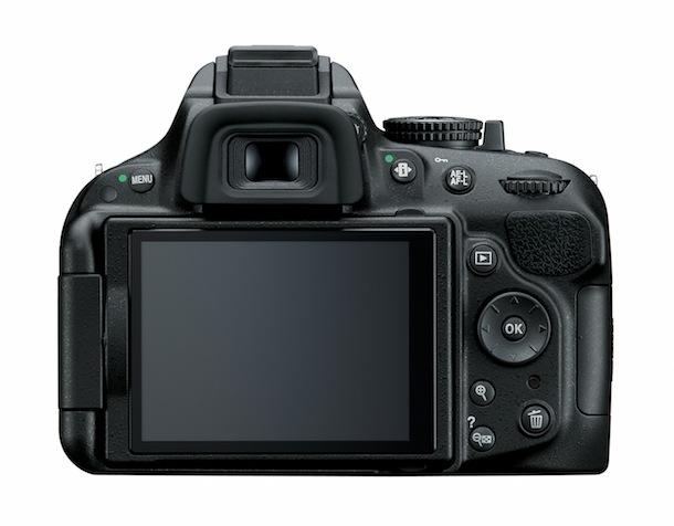 Nikon D5200 - back