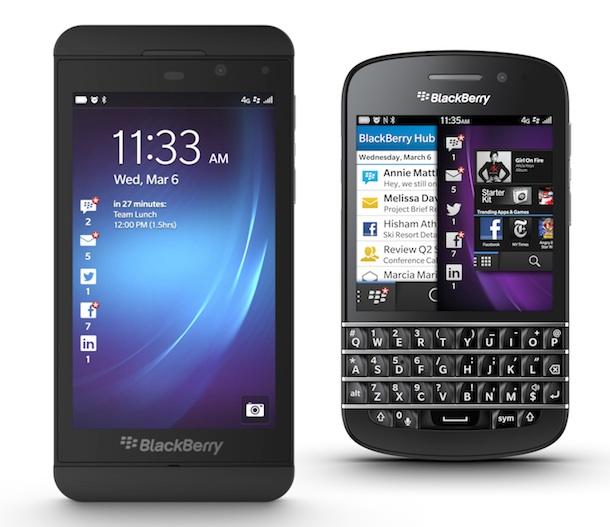BlackBerry Z10 and Q10 Smartphones
