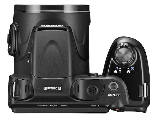 Nikon COOLPIX L820 - top