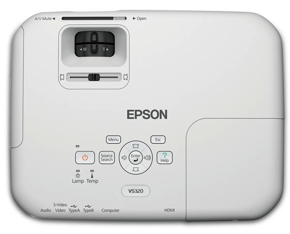 Epson VS320 XGA 3LCD Projector - top