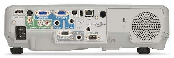 Epson PowerLite 935W WXGA 3LCD Projector - back