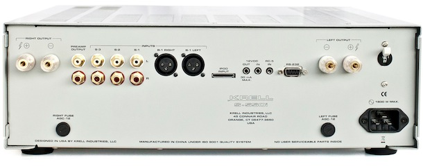 Krell S-550i Integrated Amplifier - back