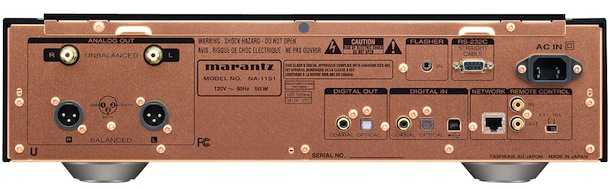 Marantz Reference NA-11S1 Network Audio Player and DAC - back