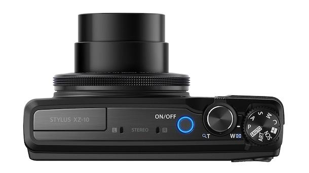 Olympus STYLUS XZ-10 Digital Camera - top