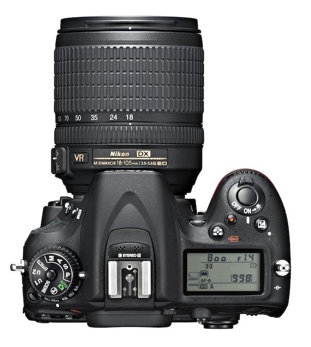 Nikon D7100 DSLR Camera - top