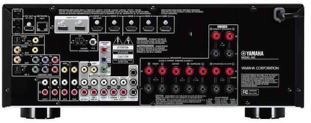 Yamaha RX-V775WA A/V Receiver - back