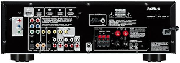 Yamaha RX-V375 A/V Receiver - back