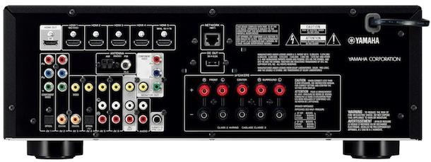 Yamaha RX-V475 A/V Receiver - back