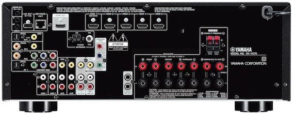 Yamaha RX-V675 A/V Receiver - back