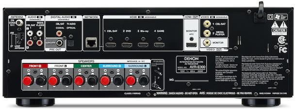 Denon AVR-E300 A/V Receiver - back