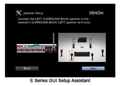 Denon AVR E-Series GUI Setup