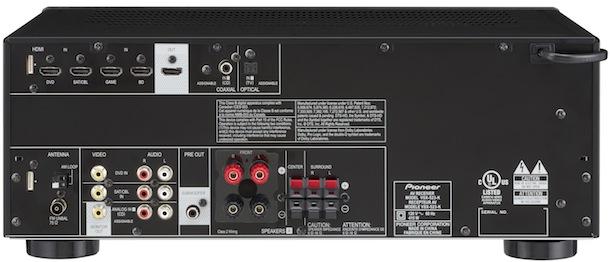 Pioneer VSX-523-K A/V Receiver - back