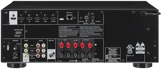 Pioneer VSX-523, 823, 1023 and 1123 A/V Receivers