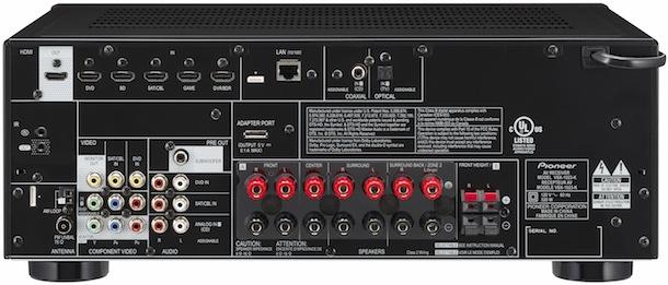Pioneer VSX-1023-K A/V Receiver - back