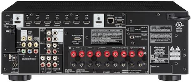 Pioneer VSX-1123-K A/V Receiver - back