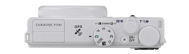 Nikon COOLPIX P330 Digital Camera - top white