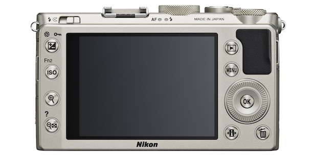 Nikon COOLPIX A Digital Camera - back silver