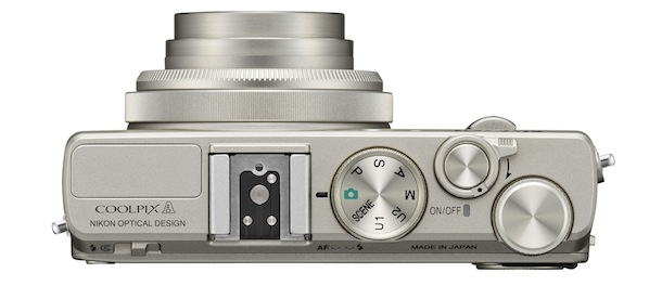 Nikon COOLPIX A Digital Camera - top silver