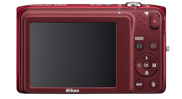 Nikon COOLPIX S3500 Digital Camera - top red