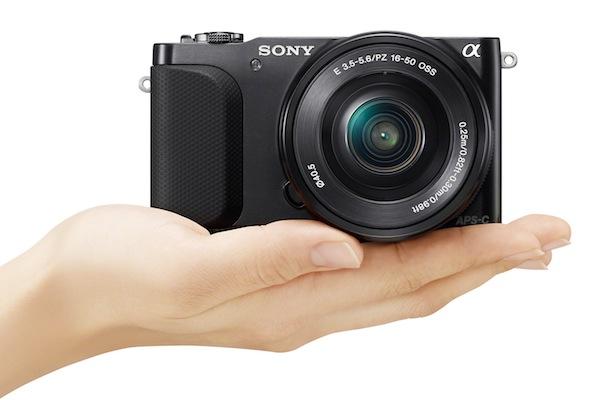 Sony NEX-3N Digital Camera - hand