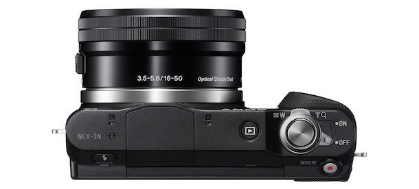Sony NEX-3N Digital Camera - top