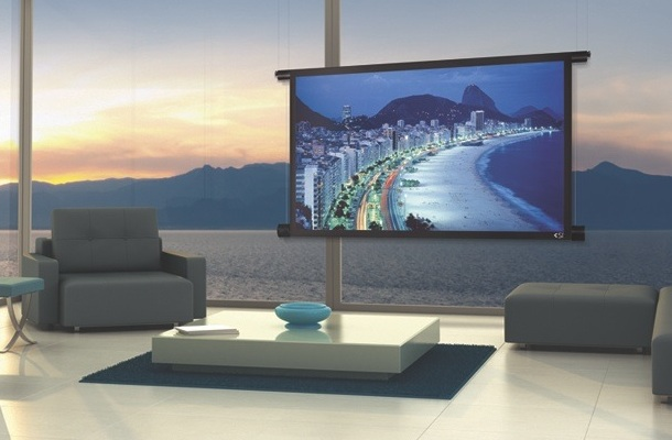 Black Diamond Motorized Projection Screen