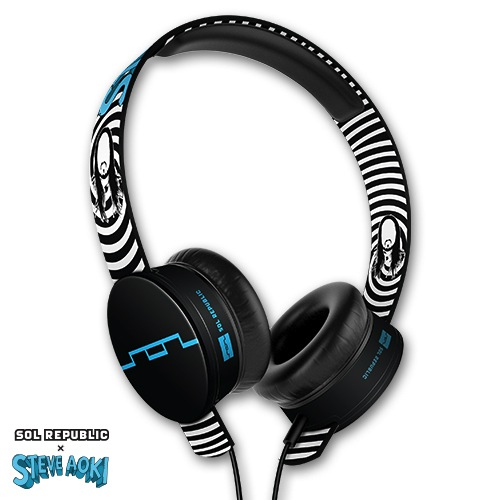 SOL REPUBLIC x Steve Aoki Tracks HD Headphones