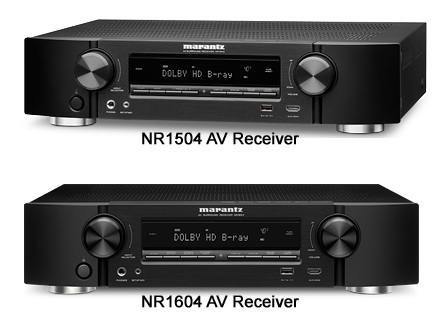 Marantz NR1504 and NR1604 A/V Receivers