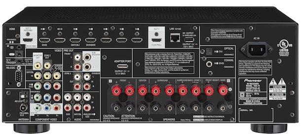 Pioneer Elite VSX-70 A/V Receiver - back