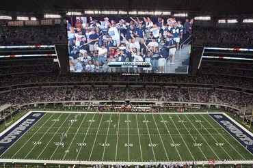 Worlds Largest Hd Video Display At Cowboys Stadium