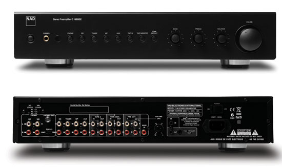 nad c 165bee stereo preamp and c 275bee power amp. Black Bedroom Furniture Sets. Home Design Ideas