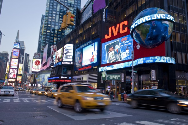 JVC COMPANY OF AMERICA TIMES SQUARE BILLBOARD