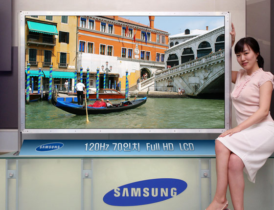 samsung develops first 70 inch lcd tv panel. Black Bedroom Furniture Sets. Home Design Ideas