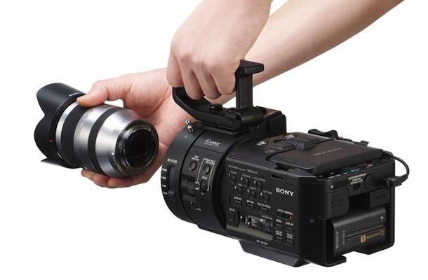 Sony NEX-FS700 4K Camcorder - back