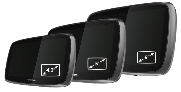 TomTom Go - Sizes