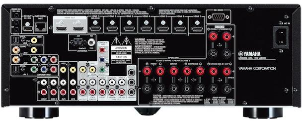 Yamaha AVENTAGE RX-A830 A/V Receiver - back
