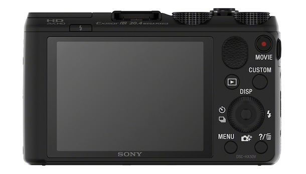 Sony Cyber-shot DSC-HX50V Digital Camera - back