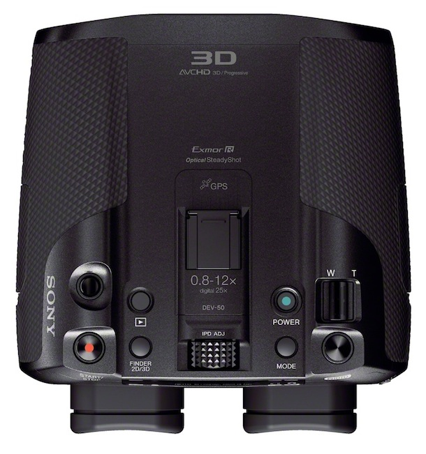 Sony DEV-50V Digital Recordable Binoculars - top