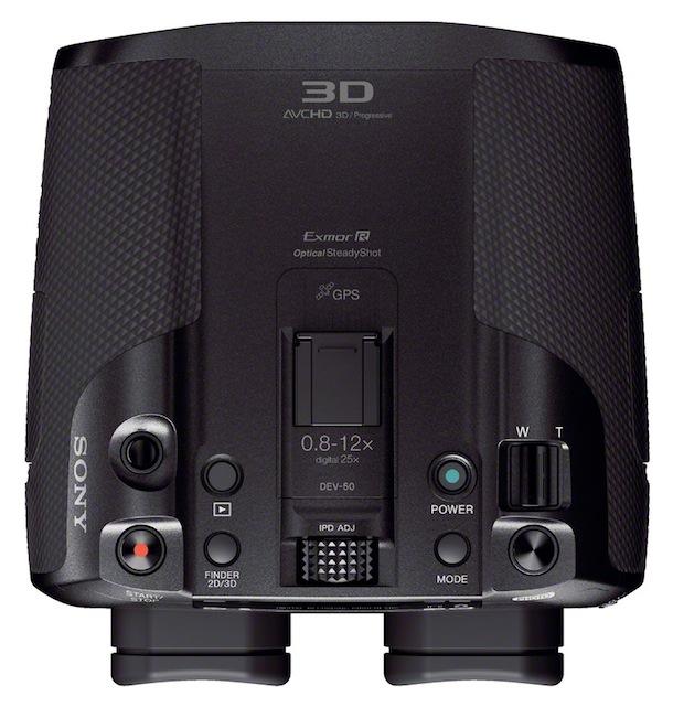 Sony DEV-50V Digital Recordable Binoculars - top