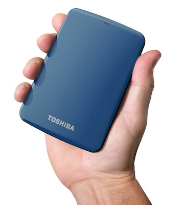 Toshiba Canvio Connect Hard Drive - Blue