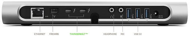 Belkin Thunderbolt Express Dock - back