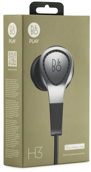 Bang & Olufsen BeoPlay H3 In-ear Headphones - box